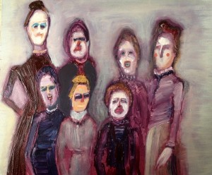Genieve Figgis, Sisters, Painting on canvas (Image courtesy of Artfetch, Dublin)