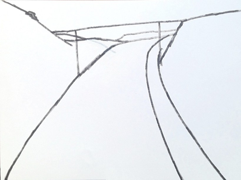 Lee Ranaldo, Drawing from Lost Highways, 2012/2013 Galerie Jan Dhaese, Gent Image courtesy of the gallery