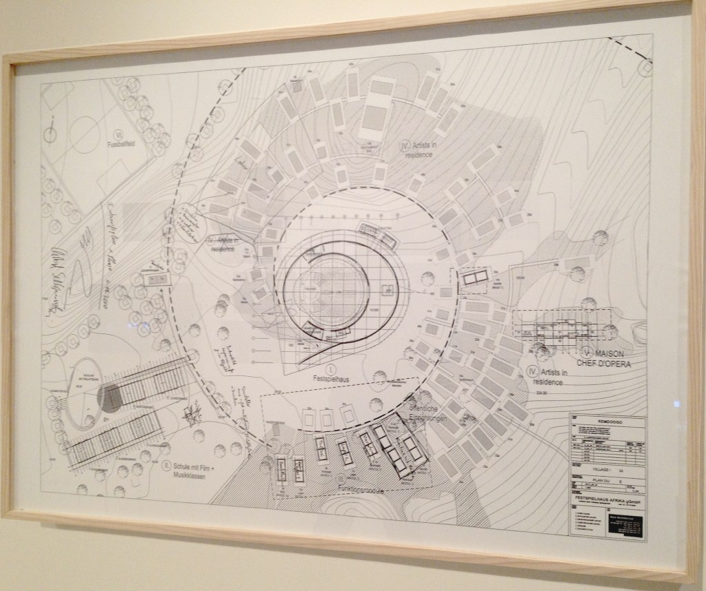 Christoph Schlingensief, Detail of plan from the Opera Village, 2010-Present, MoMA PS1, NY,  Photograph by Katy Hamer, 2014
