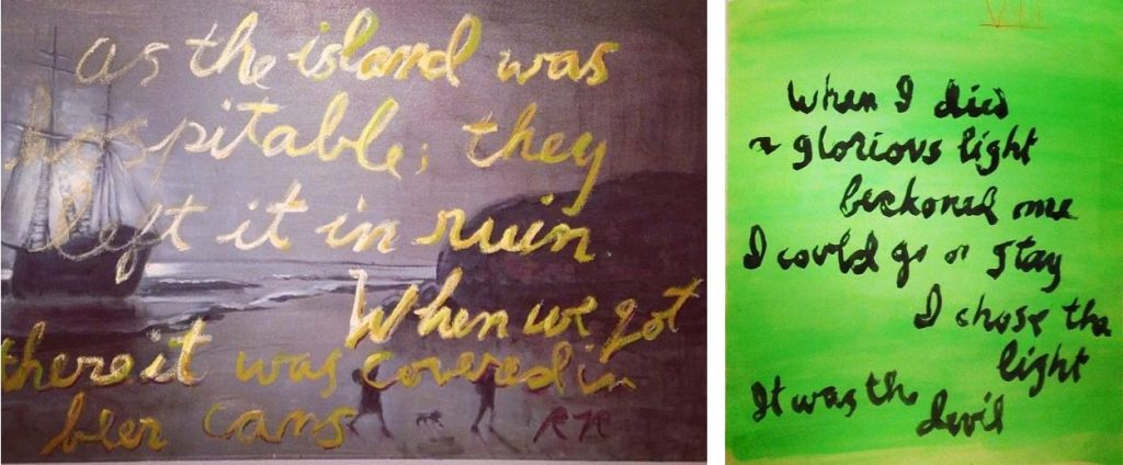 Rene Ricard, Two works from REMEMBER, Half Gallery, NY, 2014 Image/s courtesy of Half Gallery