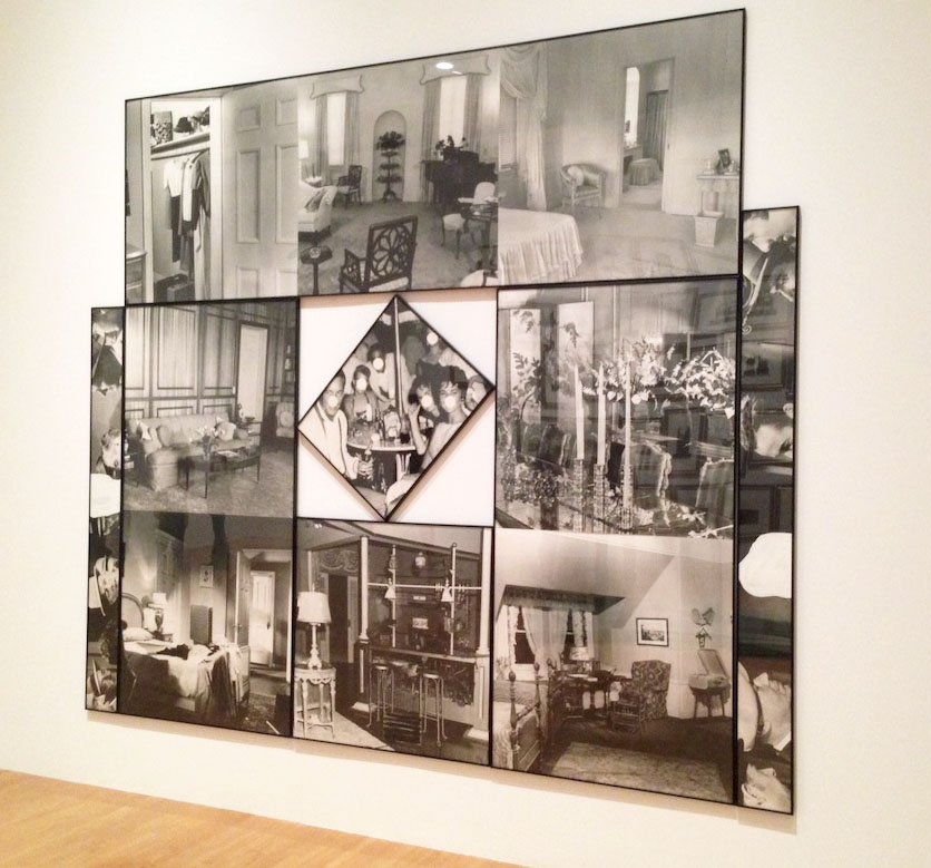 John Baldessari, Some Rooms, 1986, Gouache, black and white photographs Gift of The Broad Art Foundation, MoCA, LA Photograph by Katy Hamer