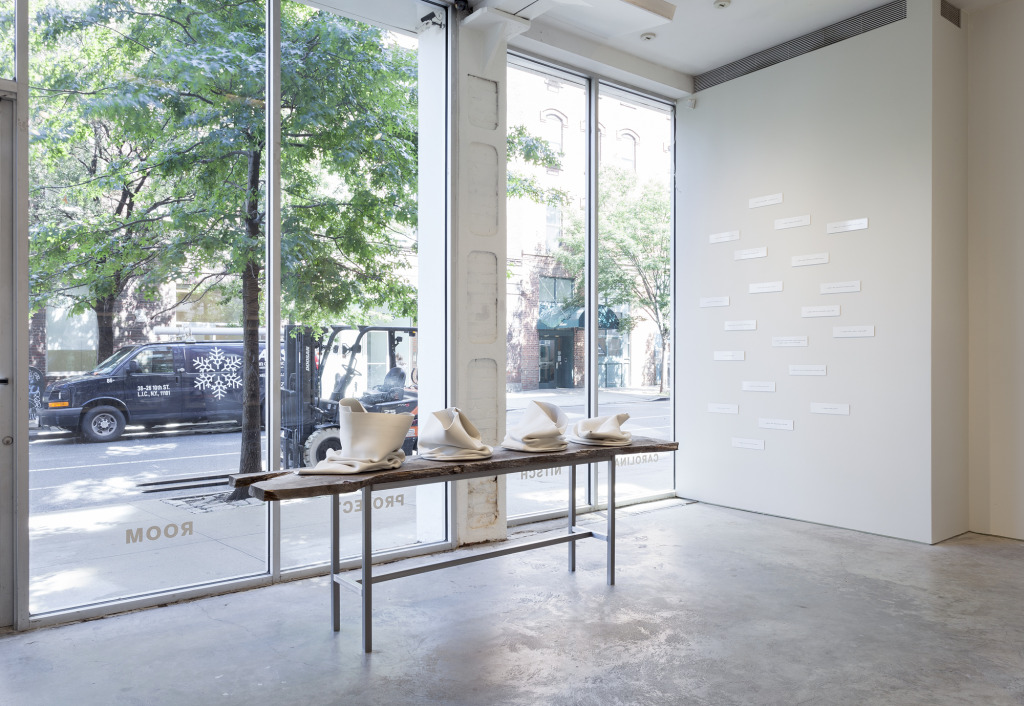 Alyson Shotz, Topographic Iterations, Installation view at Carolina Nitsch Project Room, New York, 2014, Photograph courtesy of the gallery