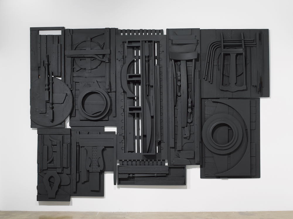 Louise Nevelson, Spring Street, 1984, Wood painted black, Image courtesy of Pace Gallery, 2015