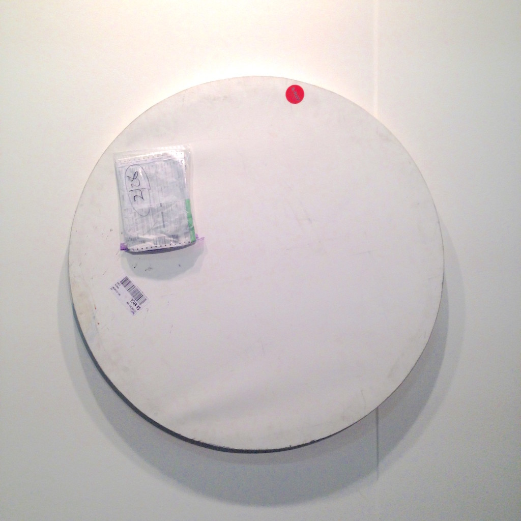 Karin Sander, Mailed Painting 156, 2014, Bonn - Berlin- New York, i8 Gallery, Reykjavik, Photograph by Katy Hamer, The Armory Show, 2015