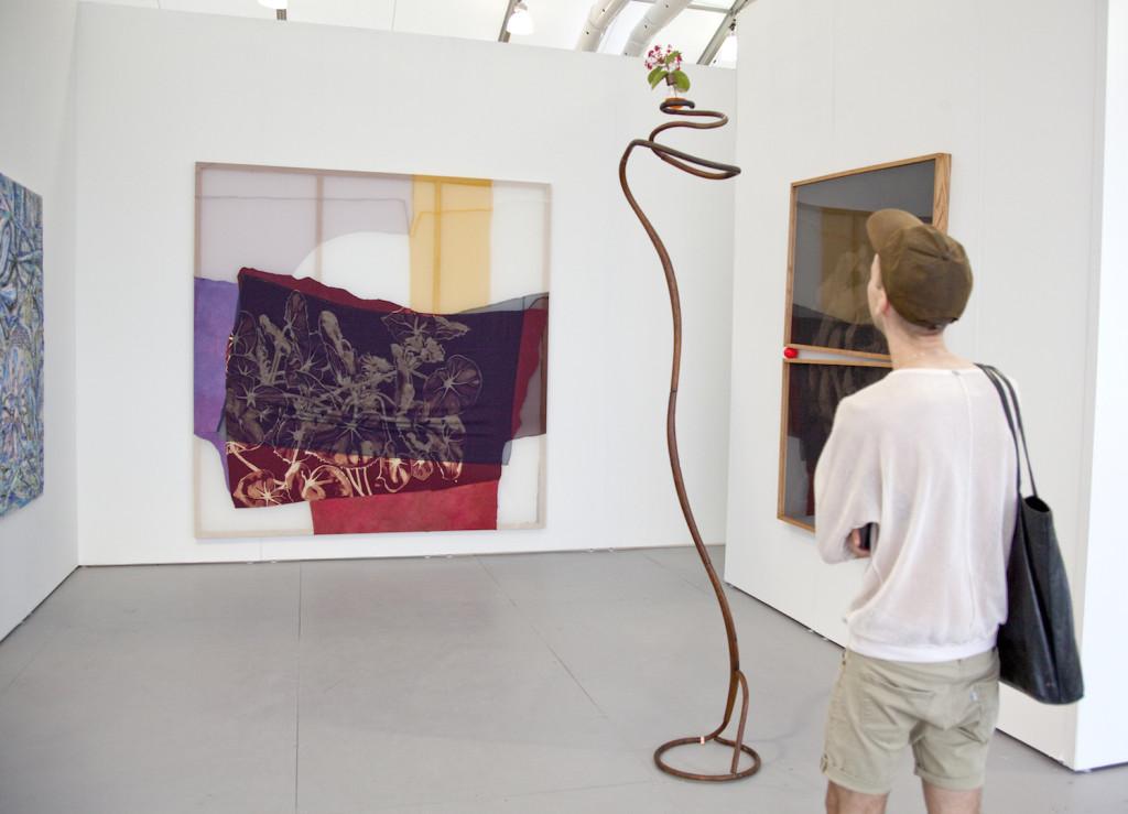 Halsey McKay Gallery (East Hampton, USA) Lauren LuloffDark Begonia, 2015and Coby BirdChair, 2015.Installation view at Untitled Miami, Photograph byVanessaAlbury