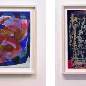 "Erika Ranee, Right: ""Sea Legs,"" (2015) left: ""Waves,"" (2015). Images courtesy of the gallery, 2016"