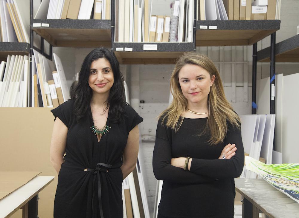 Exhibition organizers Jaime Schwartz (left) and Marina Gluckman (right) Photo by Hope Dickens Courtesy David Zwirner, New York/London