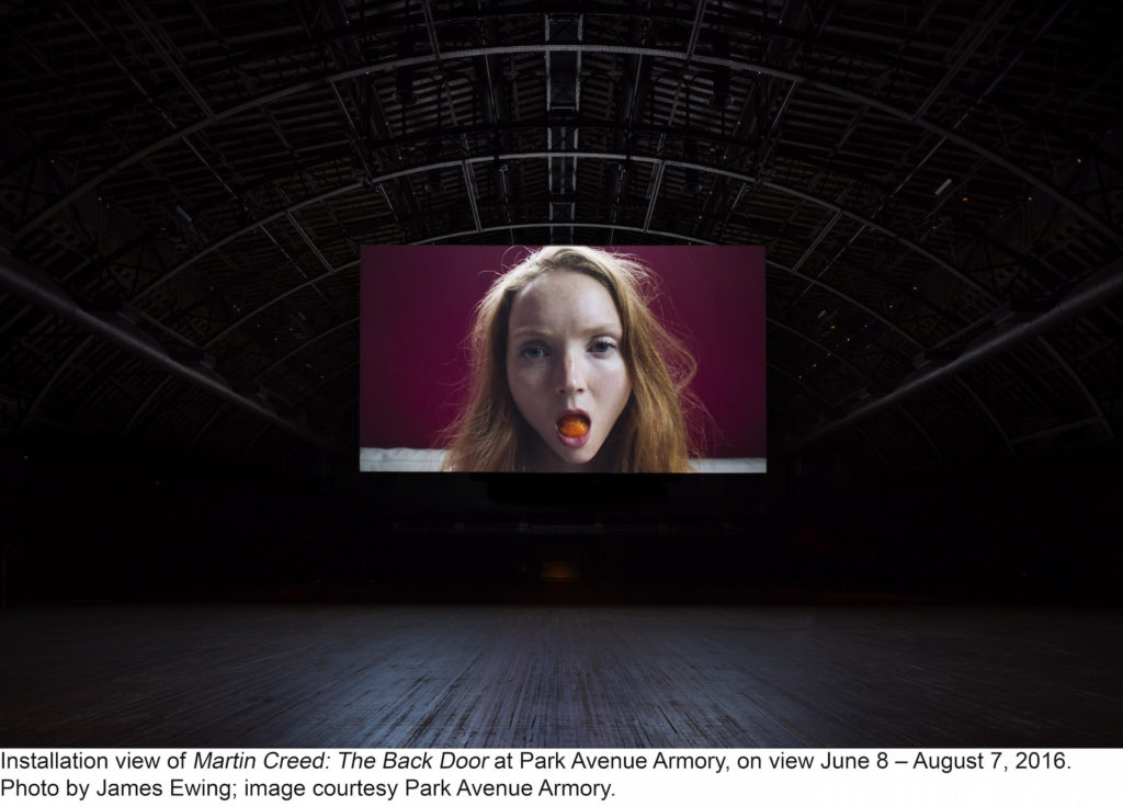 "Martin Creed, ""Work No. 2727: Lily Cole"" Duration, 1 minute 55 seconds"