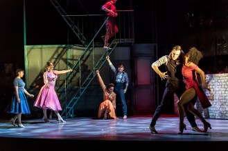 The cast with Ebony Molina (Ivy) and Jason Winter (Charlie), Jekyll & Hyde at The Old Vic. Photo by Manuel Harlan (2)