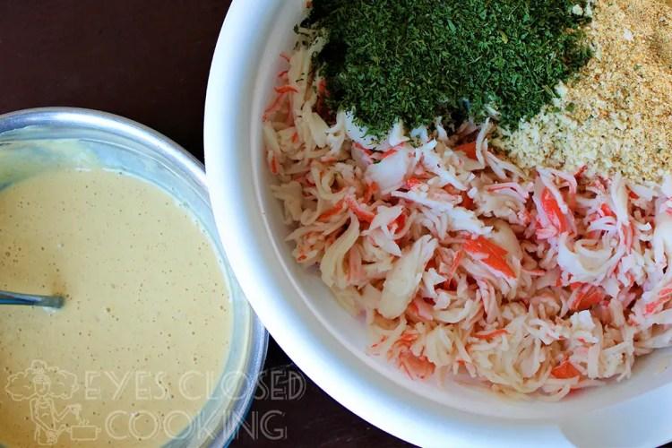Imitation Crab Cakes Recipe Eyes Closed Cooking