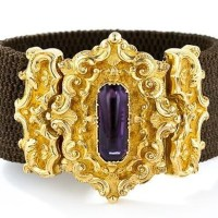 Georgian Mourning Bracelet with Amethyst , c.'1828'