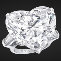 An Exquisite White Heart Shape Diamond Ring by Graff Diamonds