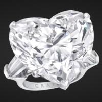 An Exquisite White Heart Shape Diamond Ring by Graff Diamonds