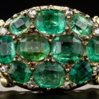 A Gorgeous Victorian Emerald Cluster Ring