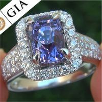 A Gorgeous GIA 4.59 Ct Unheated Natural VVS Color Change Sapphire Diamond 14k Gold Ring
