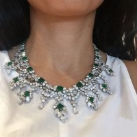 An Exquisite Harry Winston Emerald and Diamond Necklace