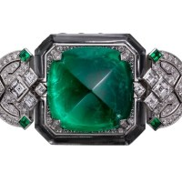 Gorgeous Cartier Emerald and Diamond Watch