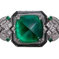 Gorgeous Cartier Emerald and Diamond Watch