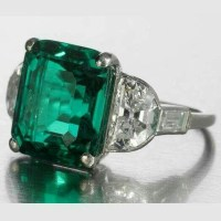 A Gorgeous Art Deco Emerald and Diamond Ring, circa 1925