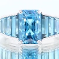 Gorgeous Blue Zircon Ring