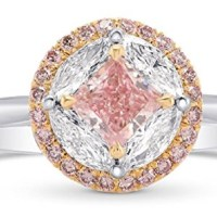 Pink Diamond Engagement Extraordinary Ring Set in Platinum GIA Hofer