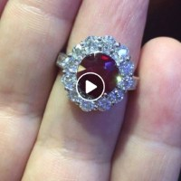 Ruby and Diamond Ring Gorgeously Designed and Crafted