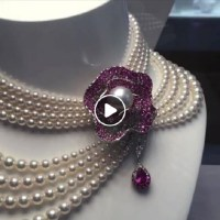 Mikimoto Pearl and Ruby Necklace