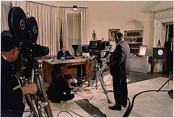 PC 60 in The Oval Office the night President Johnson declined to run for another term. It is possible that this camera is in my collection, and pictured at the top of this page, as it was used in the CBS Washington mobile unit, often used at The White House.