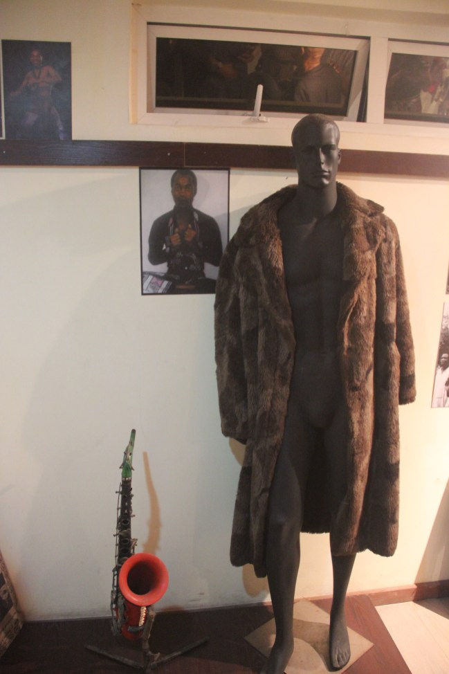 Fela's home and personal belongings at the Kalakuta Museum, Lagos.