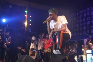 Wizkid on stage at the Afrika Shrine