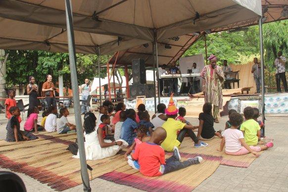 Uncle Jimi, storytelling at Freedom Park Lagos - Eyesofalagodboy