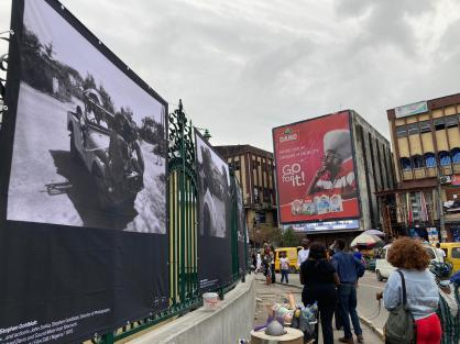 The Open-air photo exhibition at Tinubu Square Lagos - Photo by Alexander Ernst