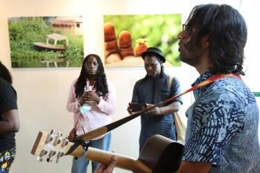Aditya Chellaram serenaded art lovers at the opening of Greener Pastures