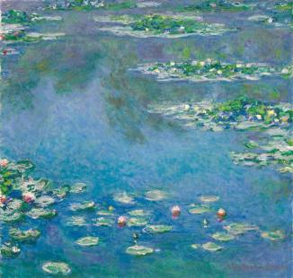 Water lilies (Oil on canvas) - Claude Monet Art 1906