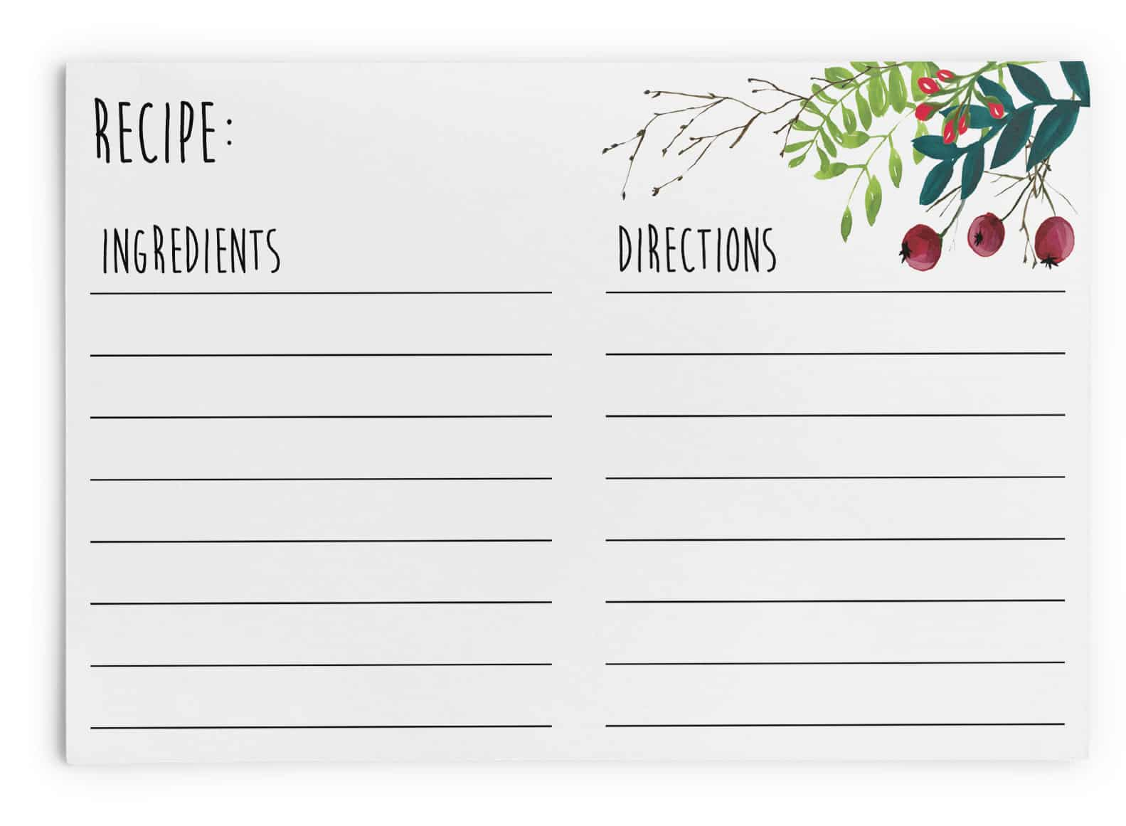 graphic about Printable Christmas Recipe Cards identify Totally free Printable Xmas Recipe Playing cards Eyestigmatic Style and design