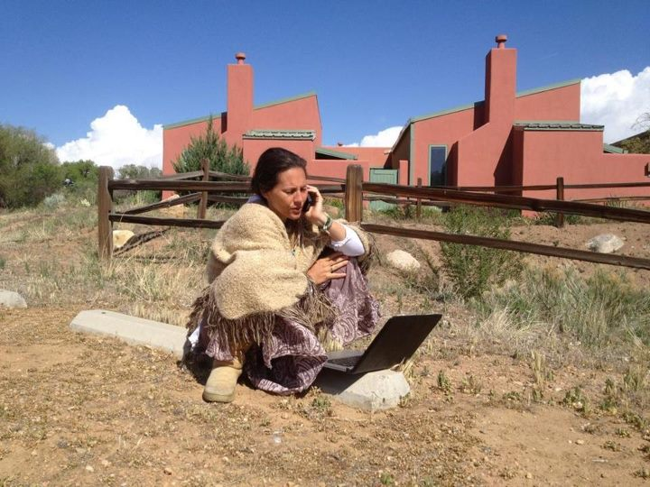 At a retreat center our friends want to buy in Northern New Mexico – on our way home from Epic Eden Hot Springs