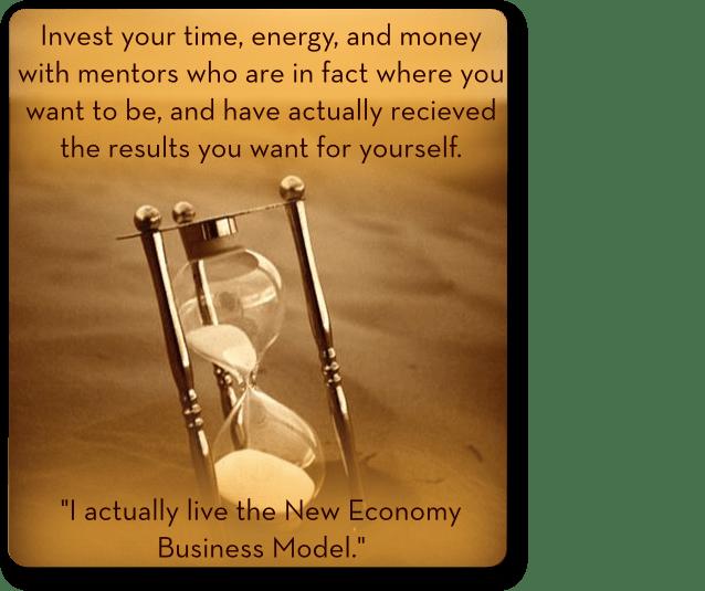 Choosing a mentor time hourglass