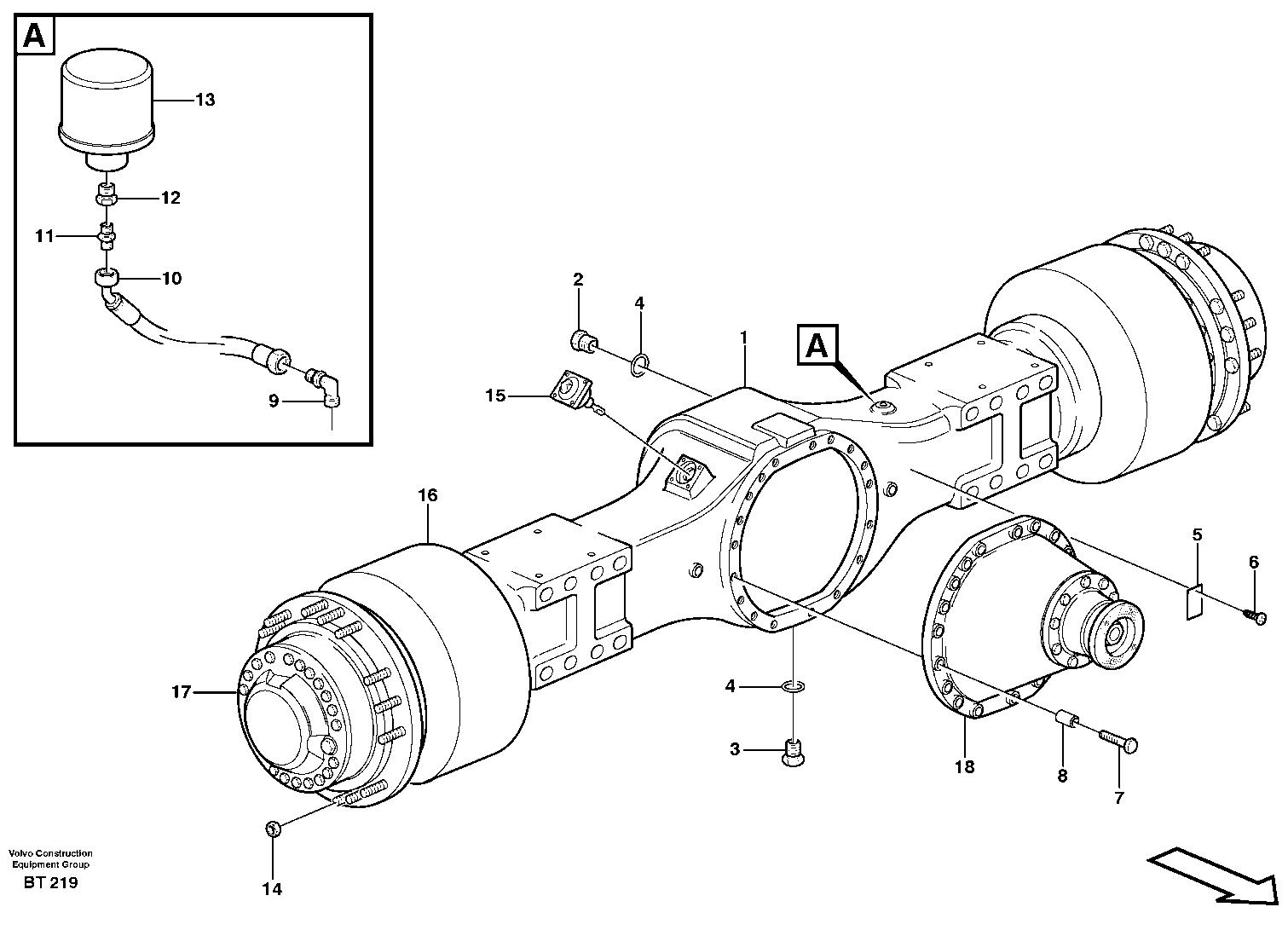 Volvo Hauler Rear Axle Spare Parts