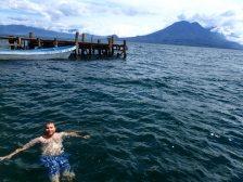 Steve having a swim