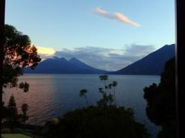 Sunset over 2 volcanoes