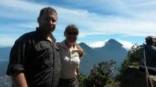 In front of Volcano Atitlan