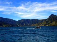 Boat heading to San Juan