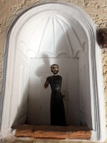 Creepy religious icon