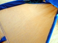 Ashfall overnight on our tent