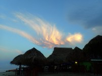 Angel cloud above the bar