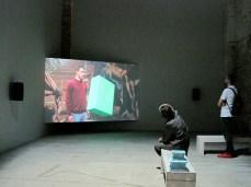 Shahryar Nashat, Factor Green, 2011, HD video, 5:37 min; Benches, 2011.