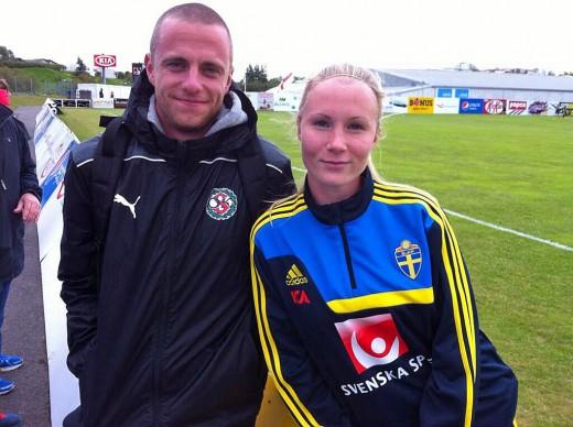 Niclas Collgård och Sara Sandberg på Island.