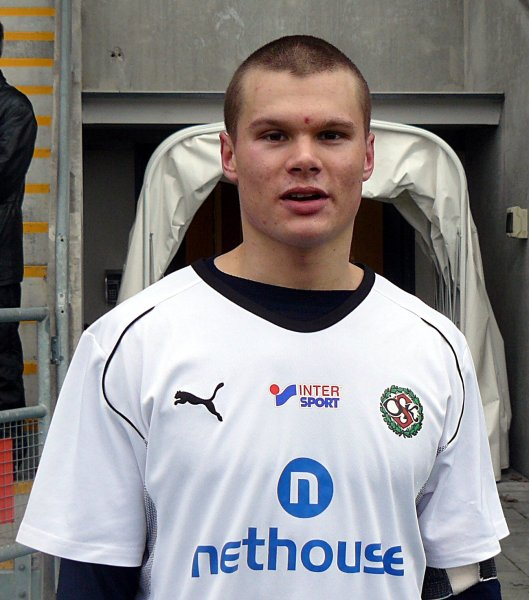 Jacob Nilsson i ÖSKs klubbdress (2009).