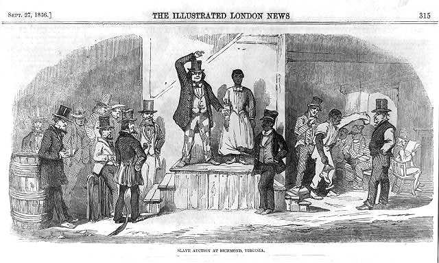 'Slave auction at Richmond, Virginia', by Eyre Crowe (1856)