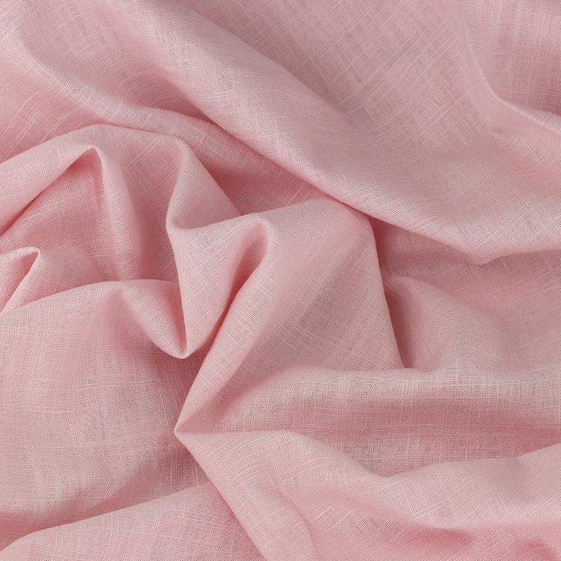 Tissu Lin léane rose pâle © Eyrelles Tissus